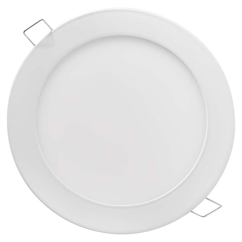 LED panel 168mm, kruhový vestavný bílý, 12W teplá bílá
