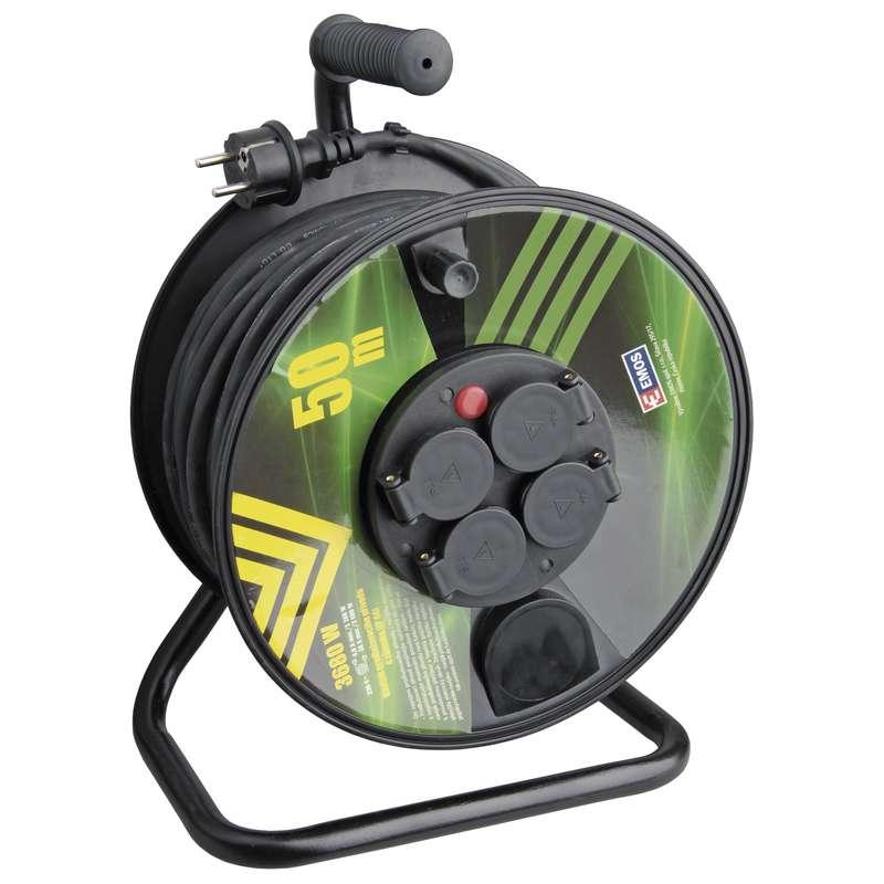 Gumový prodlužovací kabel na bubnu - 4 zásuvky 50m 1,5mm