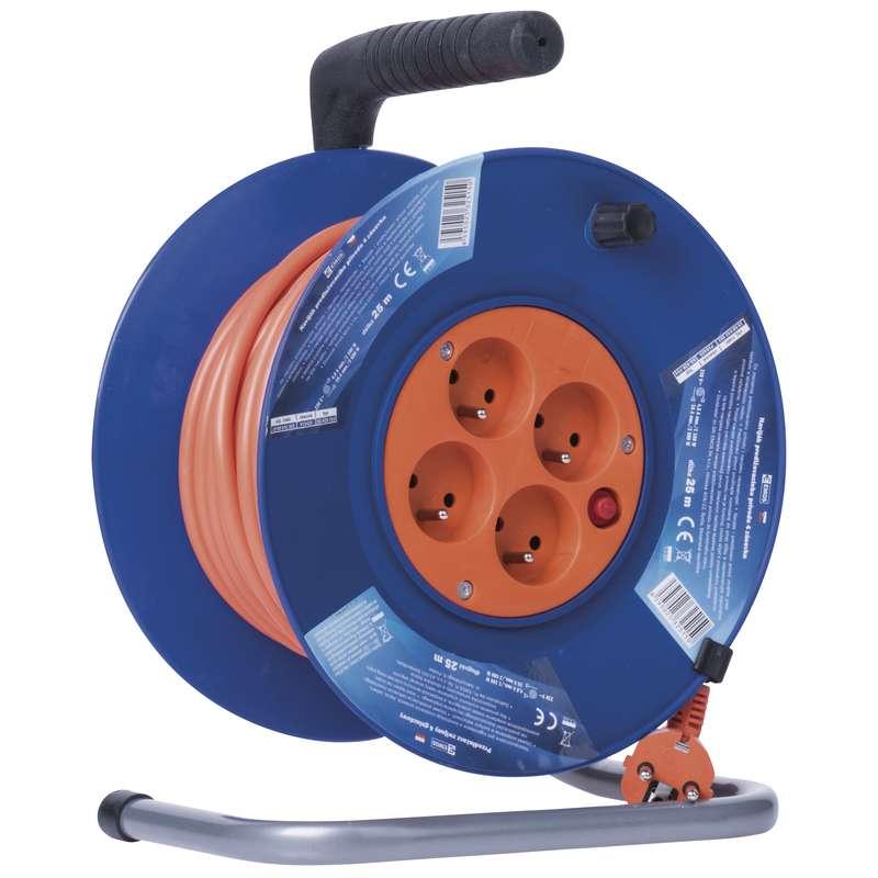 PVC prodlužovací kabel na bubnu - 4 zásuvky 25m 1,5mm