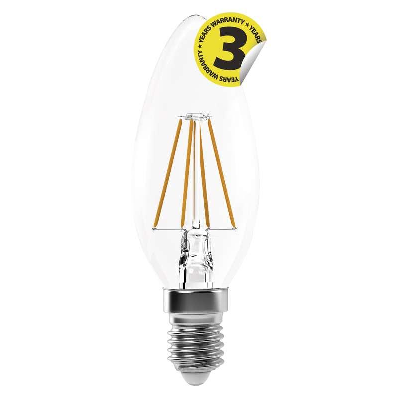 LED žárovka Filament Candle 4W E14 teplá bílá