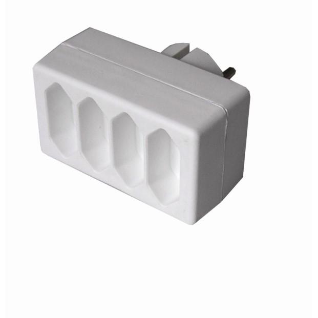 Solight rozbočka, 4x 2,5A, bílá