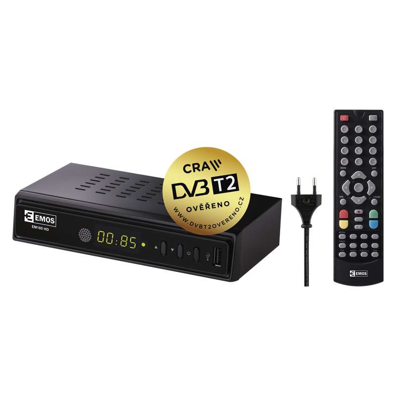 EMOS EM180 HD HEVC H265 DVB-T2