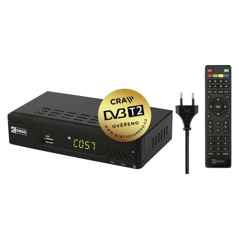 EMOS EM170 HD HEVC H265 DVB-T2