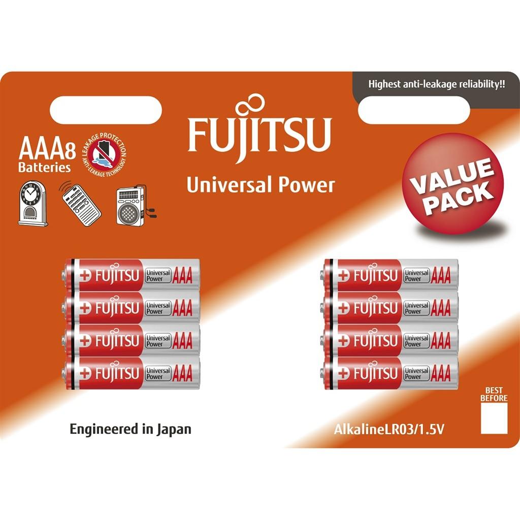 Fujitsu Universal Power alkalická baterie LR03/AAA, blistr 8ks