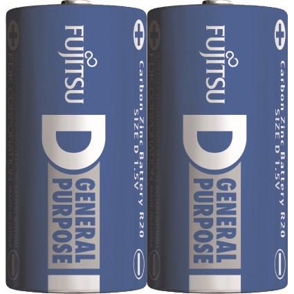 Fujitsu zinková baterie R20/D, shrink 2ks