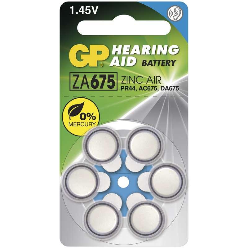 Baterie do naslouchadel GP ZA675, blistr