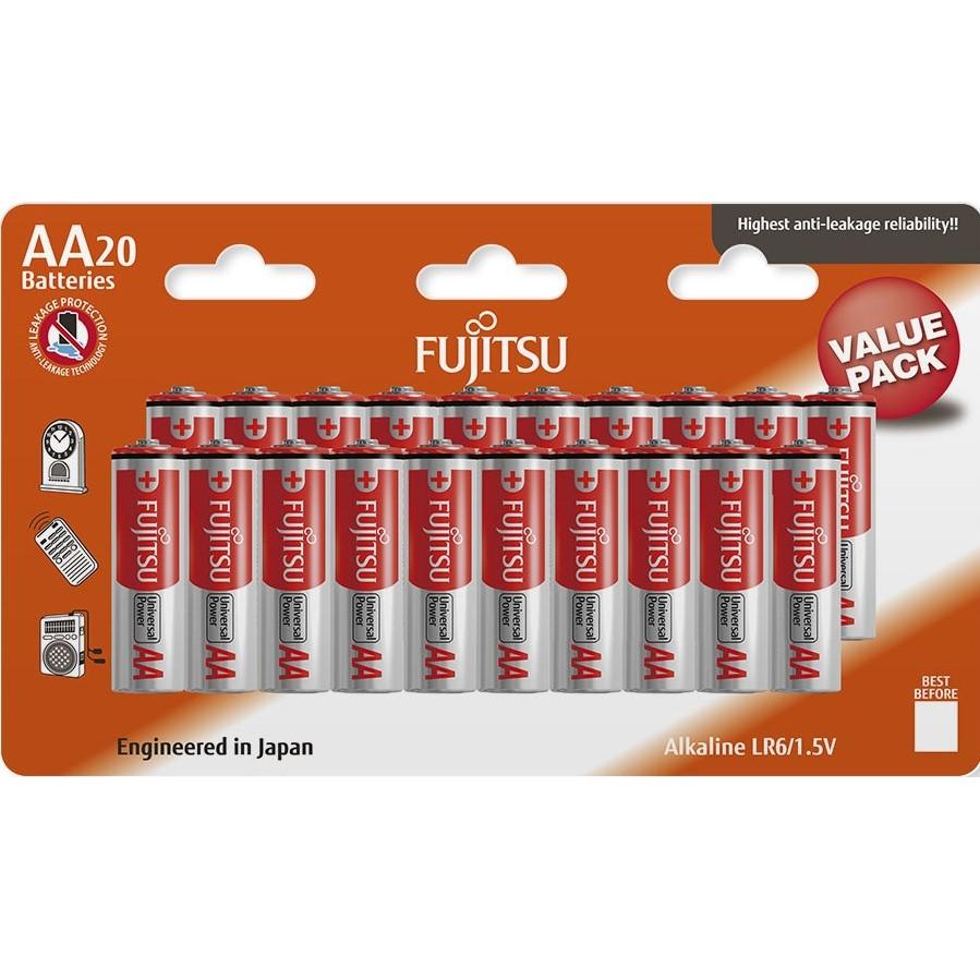 Fujitsu Universal Power alkalická baterie LR06/AA, blistr 20ks