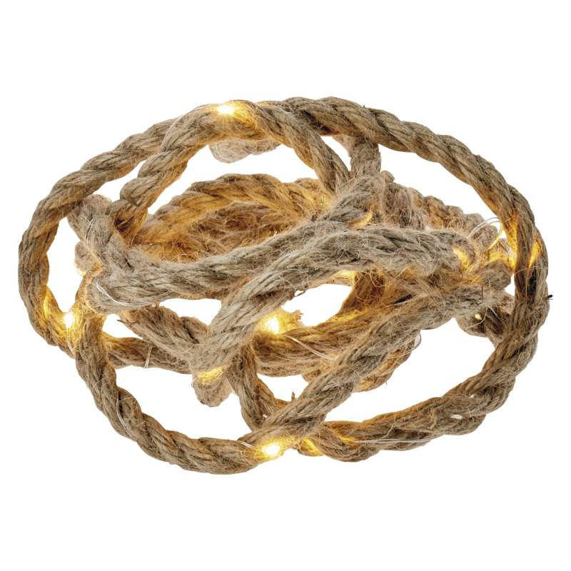 30 LED světelný řetěz – provaz, 3m, 3×AA, teplá bílá, čas.