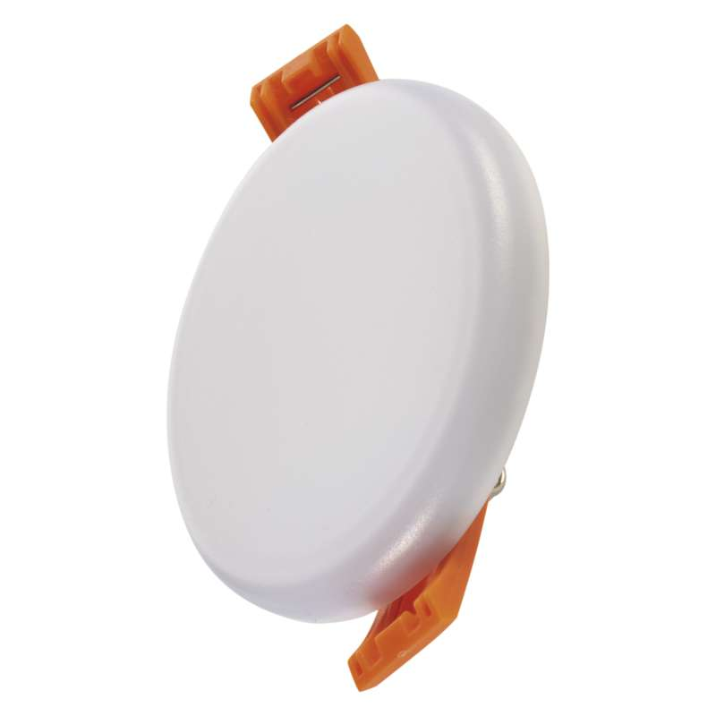 LED panel 75mm, kruhový vestavný bílý, 6 W tepl. bíla, IP65