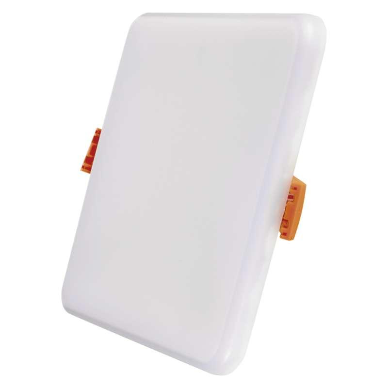 LED panel 125×125, vestavný čtvercový bílý, 11 W teplá bílá