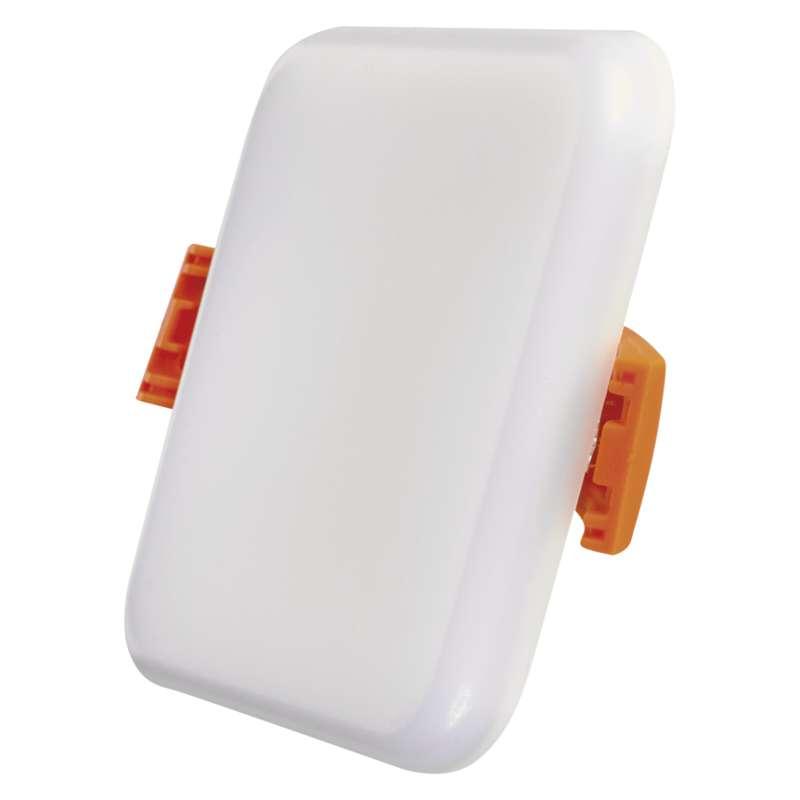 LED panel 75×75, vestavný čtvercový bílý, 6 W teplá bílá