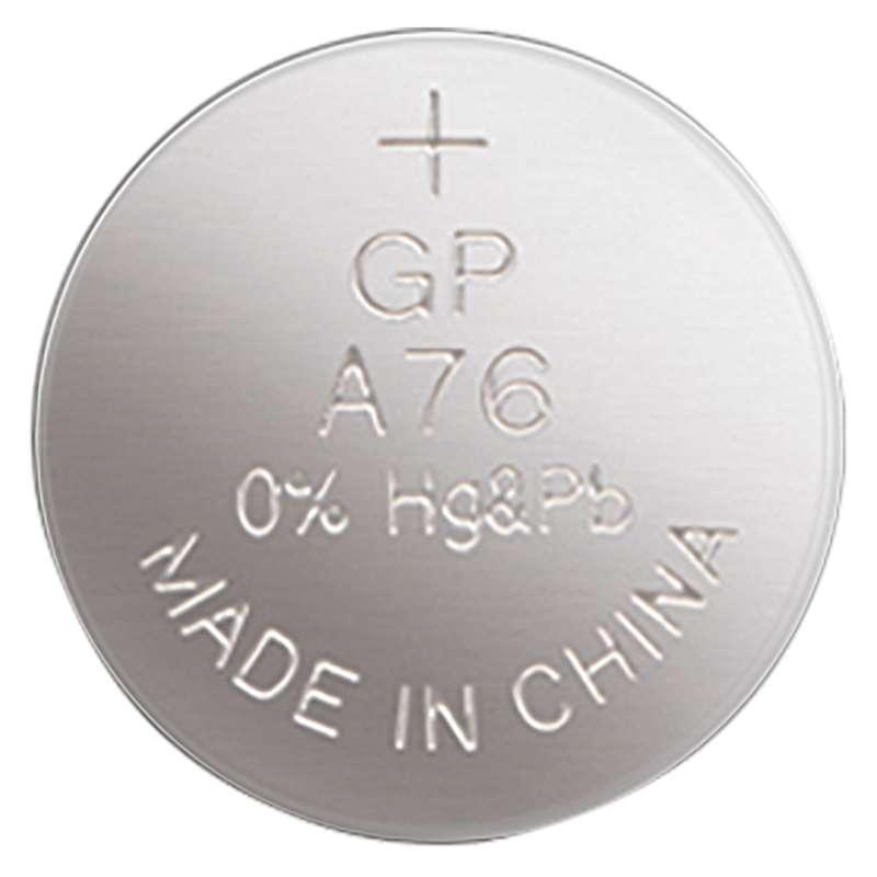 Alkalická knoflíková baterie GP LR44 (A76F), blistr
