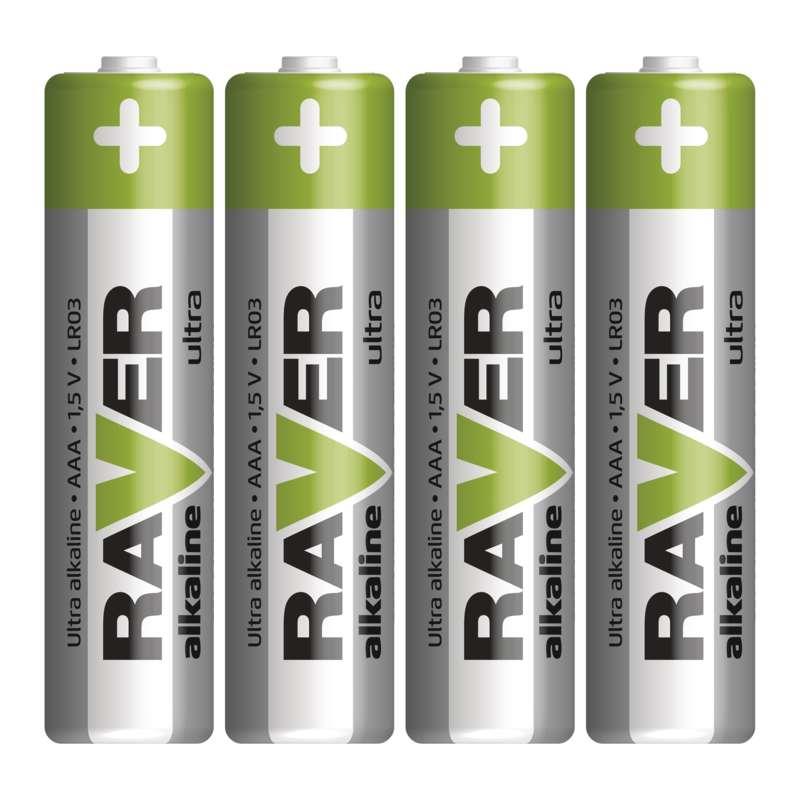 Alkalická baterie RAVER LR03 (AAA)