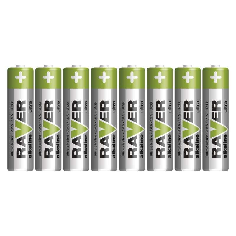 Alkalická baterie RAVER LR03 (AAA), fólie