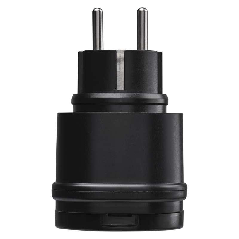Dálkově ovládané zásuvky IP44, černé