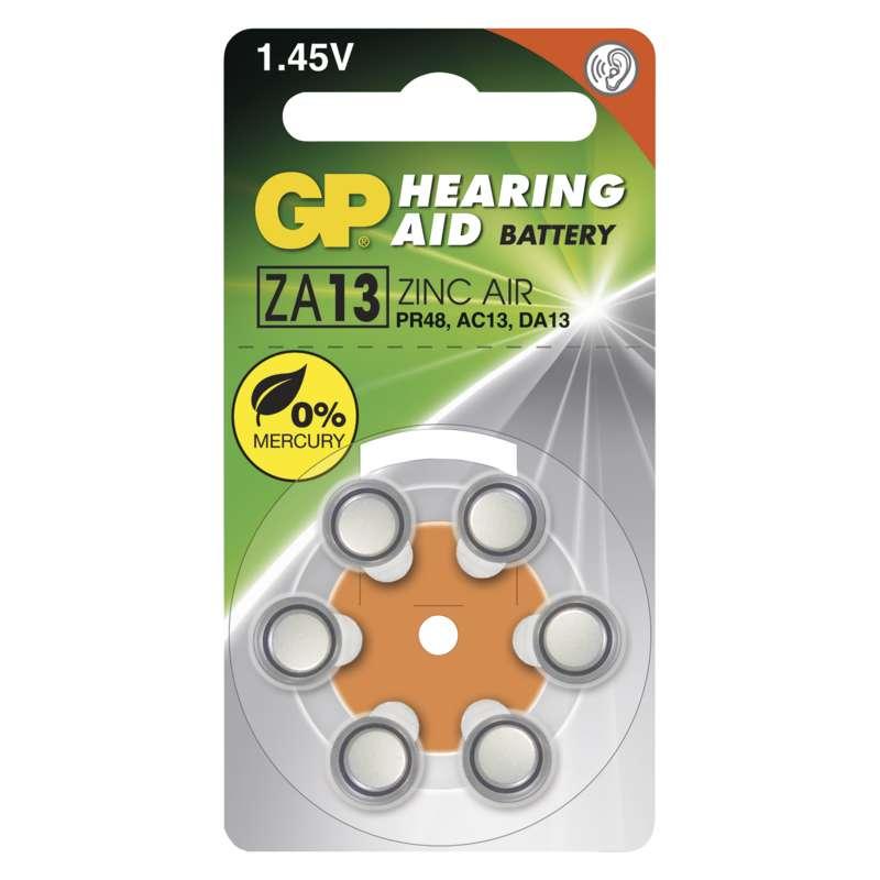 Baterie do naslouchadel GP ZA13, blistr