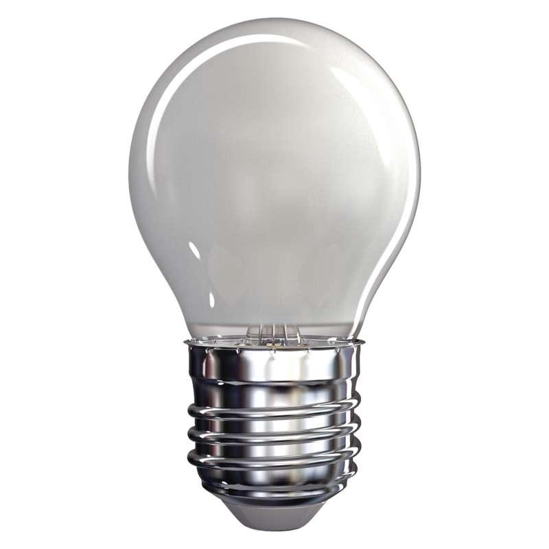 LED žárovka Filament Mini Globe A++ matná 4W E27 teplá bílá