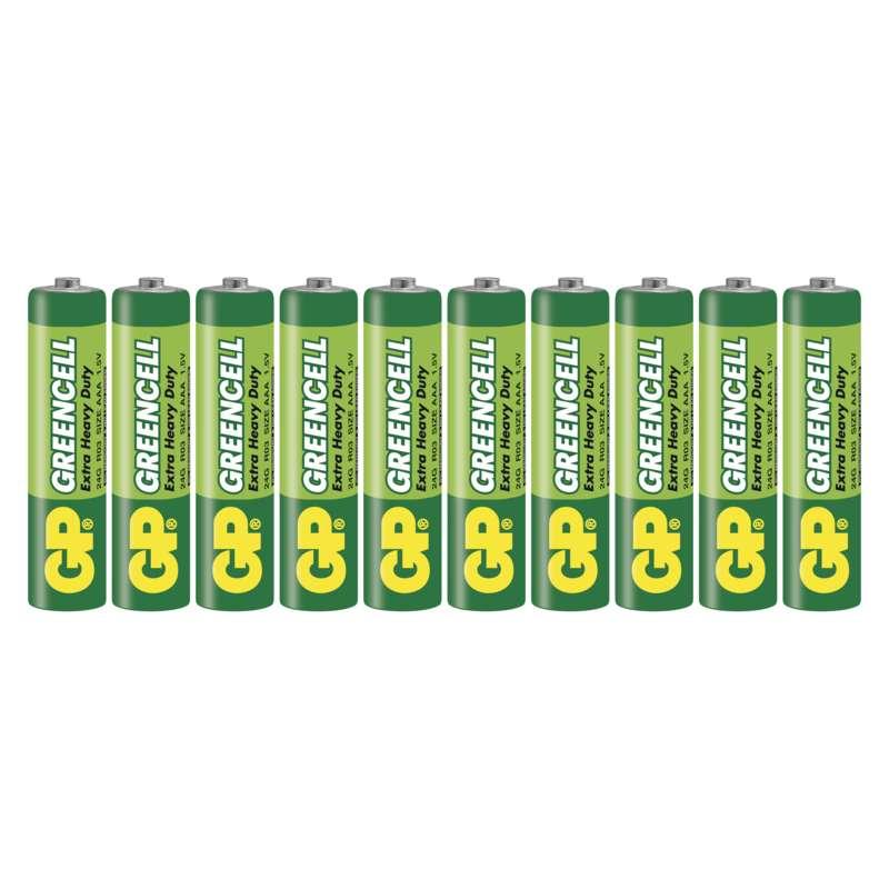 Zinkochloridová baterie GP Greencell R03 (AAA)